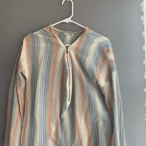 soft surroundings striped zip up long sleeve